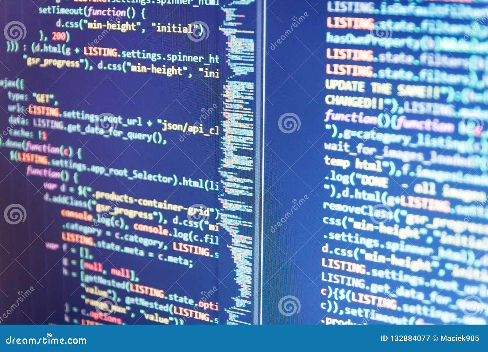 Sviluppo del PHP, codice del sito del software Processo grafico del software dell estratto dell elemento di tecnologia di concett