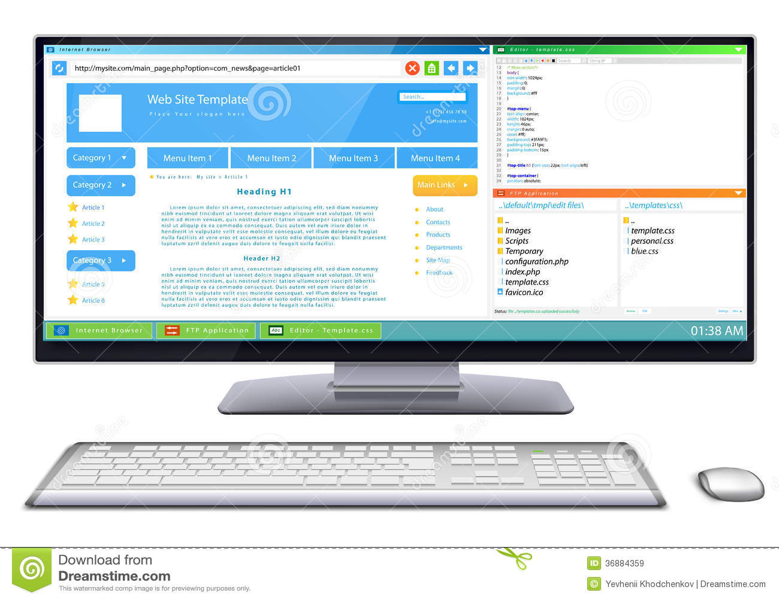 Download Sviluppo del sito Web illustrazione vettoriale. Illustrazione di background - 36884359