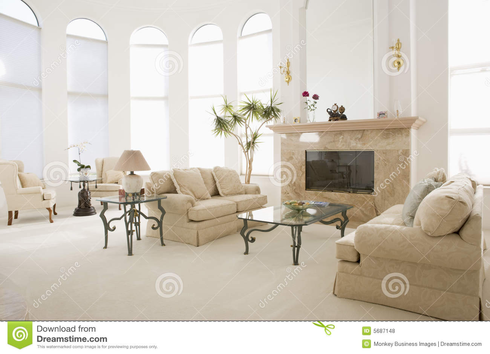 Svuoti il salone nella casa lussuosa fotografie stock for Casa lussuosa