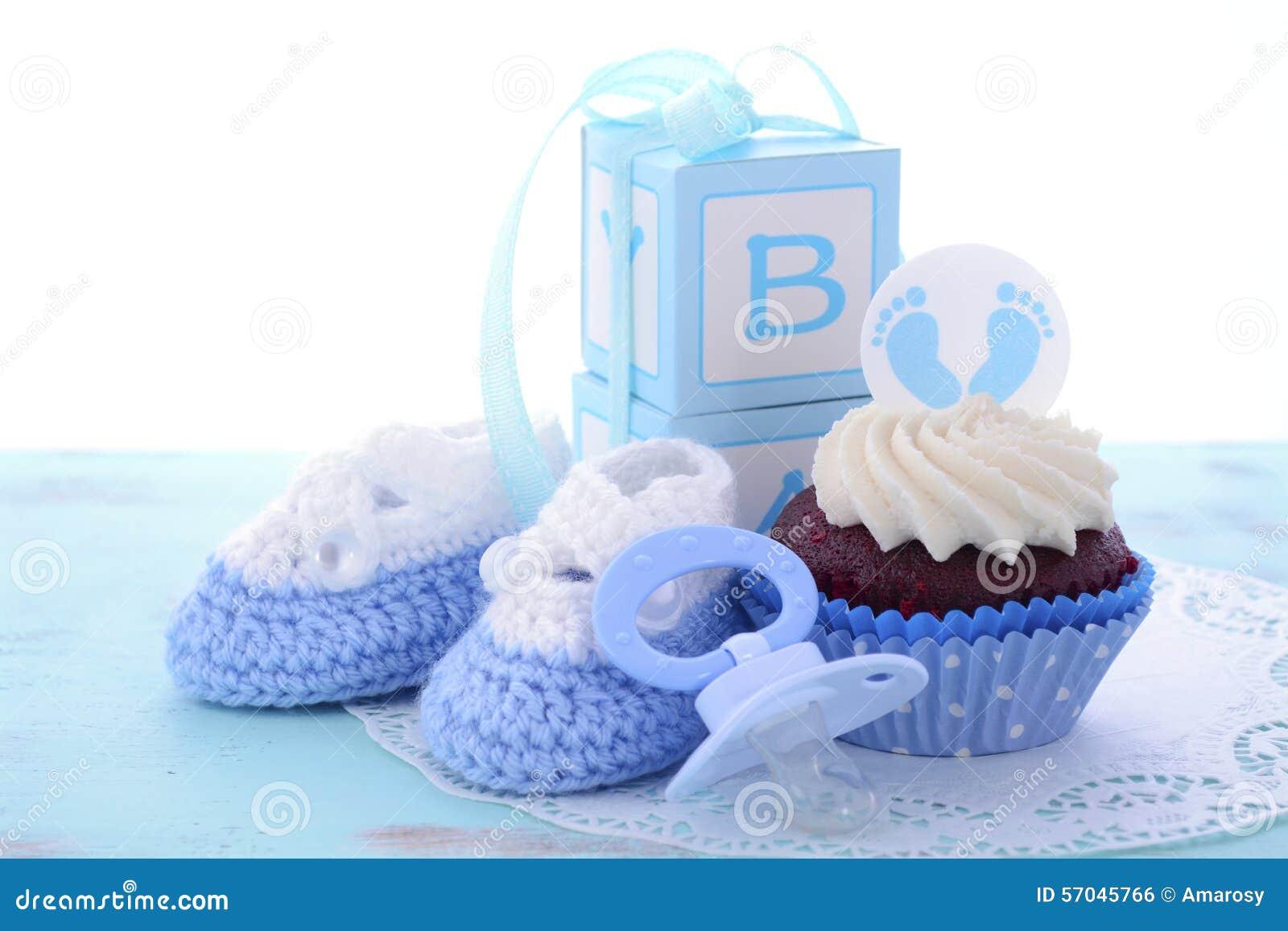 Swój chłopiec Błękitnego dziecka prysznic babeczki