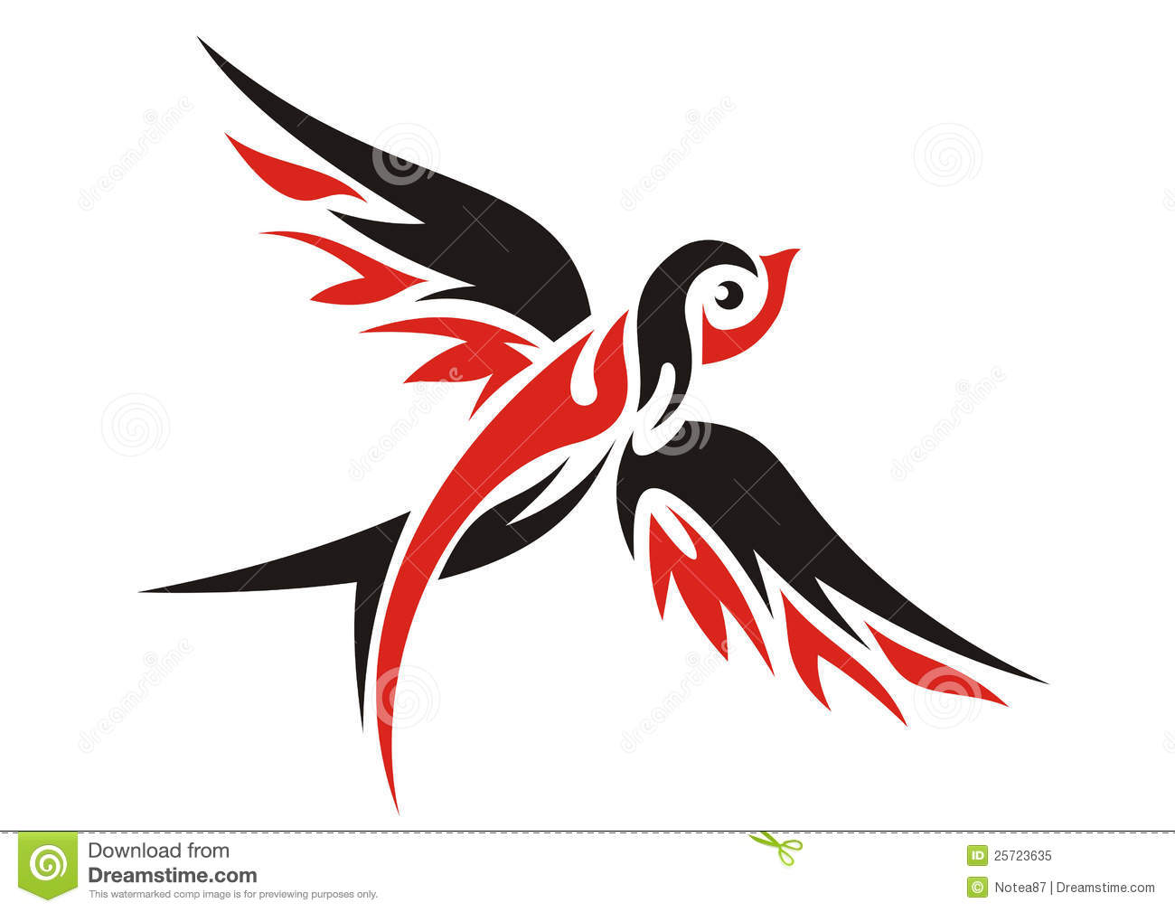 Sparrow Silhouette Flying Swallow Royalty Free S...