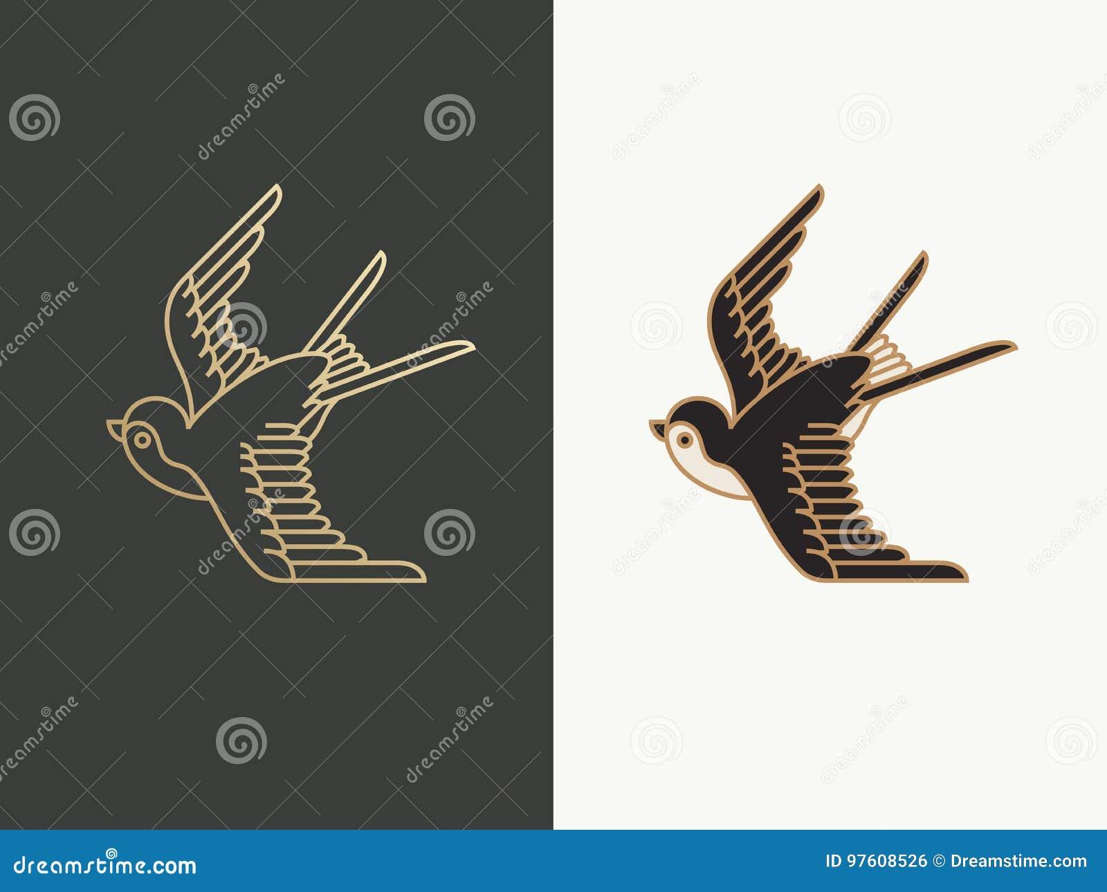 swallow bird logo stock illustration illustration of colored 97608526 https www dreamstime com stock illustration swallow bird logo design template illustration image97608526