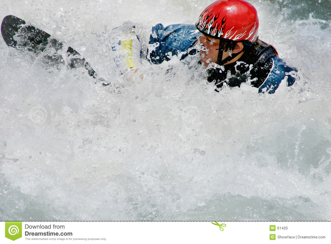 Swallowed up in whitewater