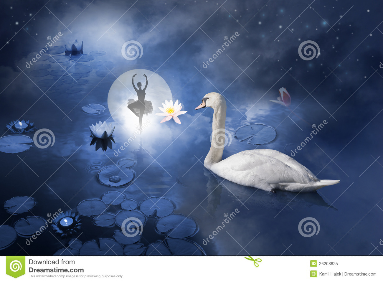 Royalty Free Stock Photo Swan Ballerina Moon Image26208625 on ruins on moon