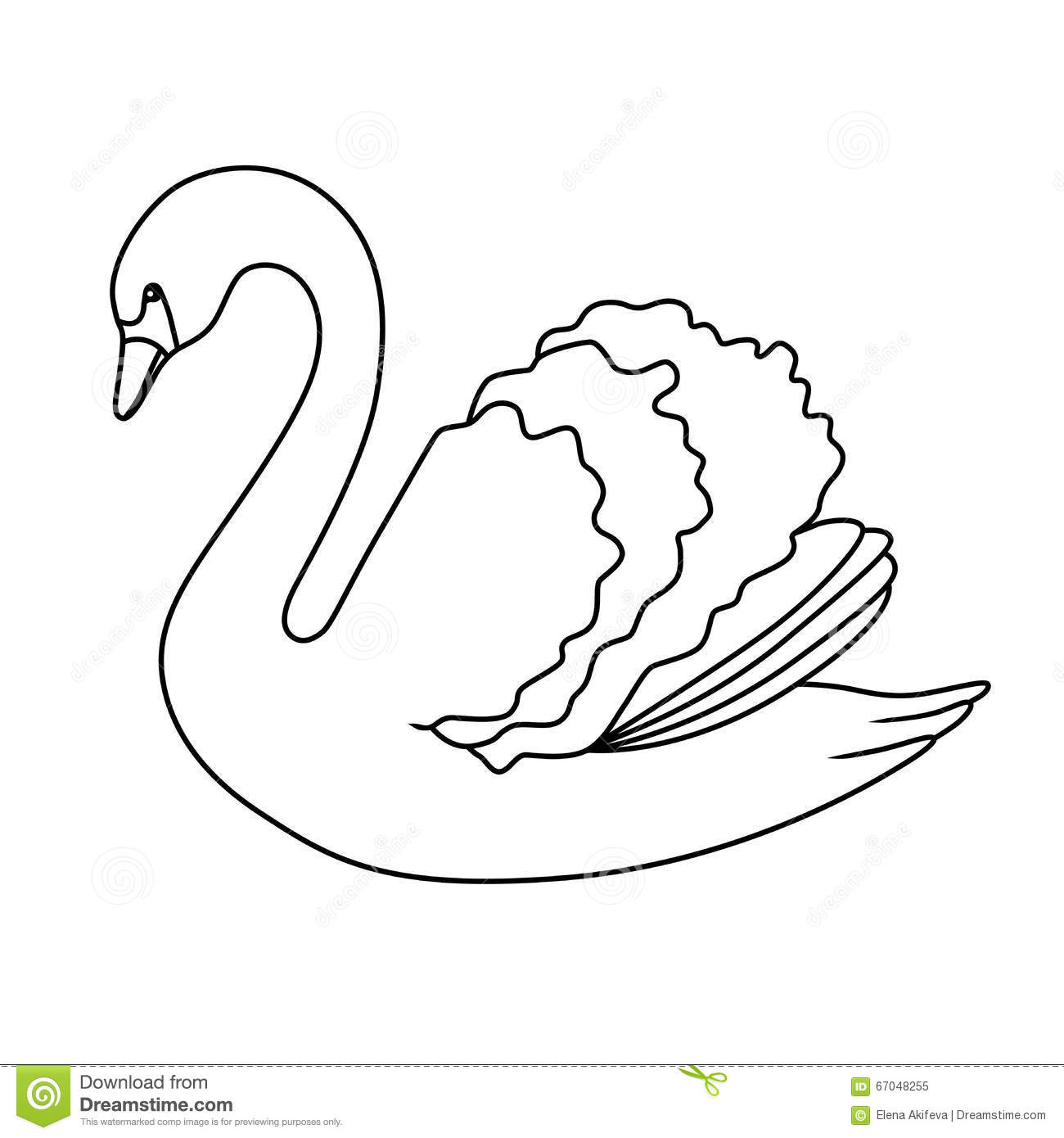 how to draw a sleeping swan
