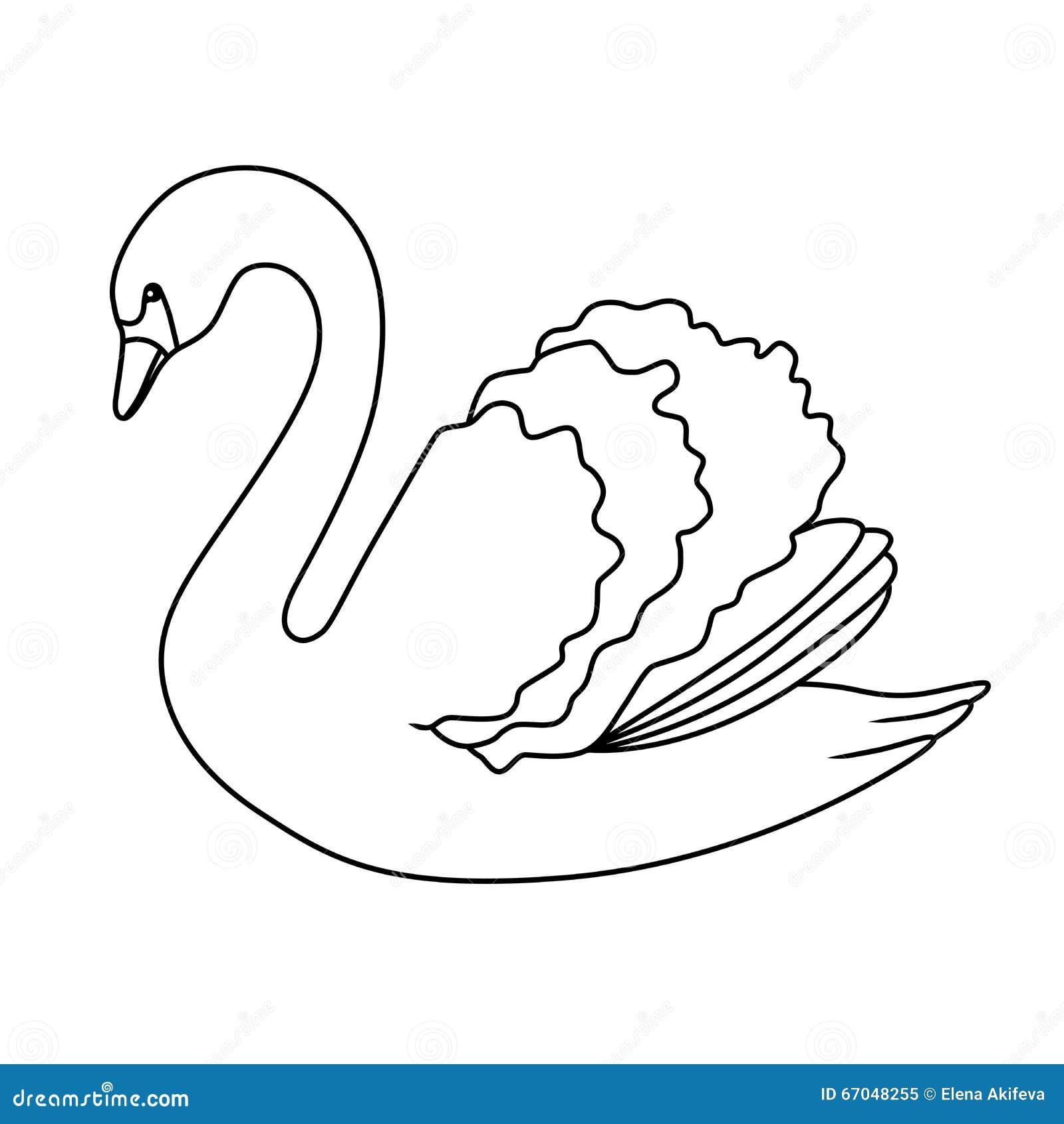 clip black and white Swan art