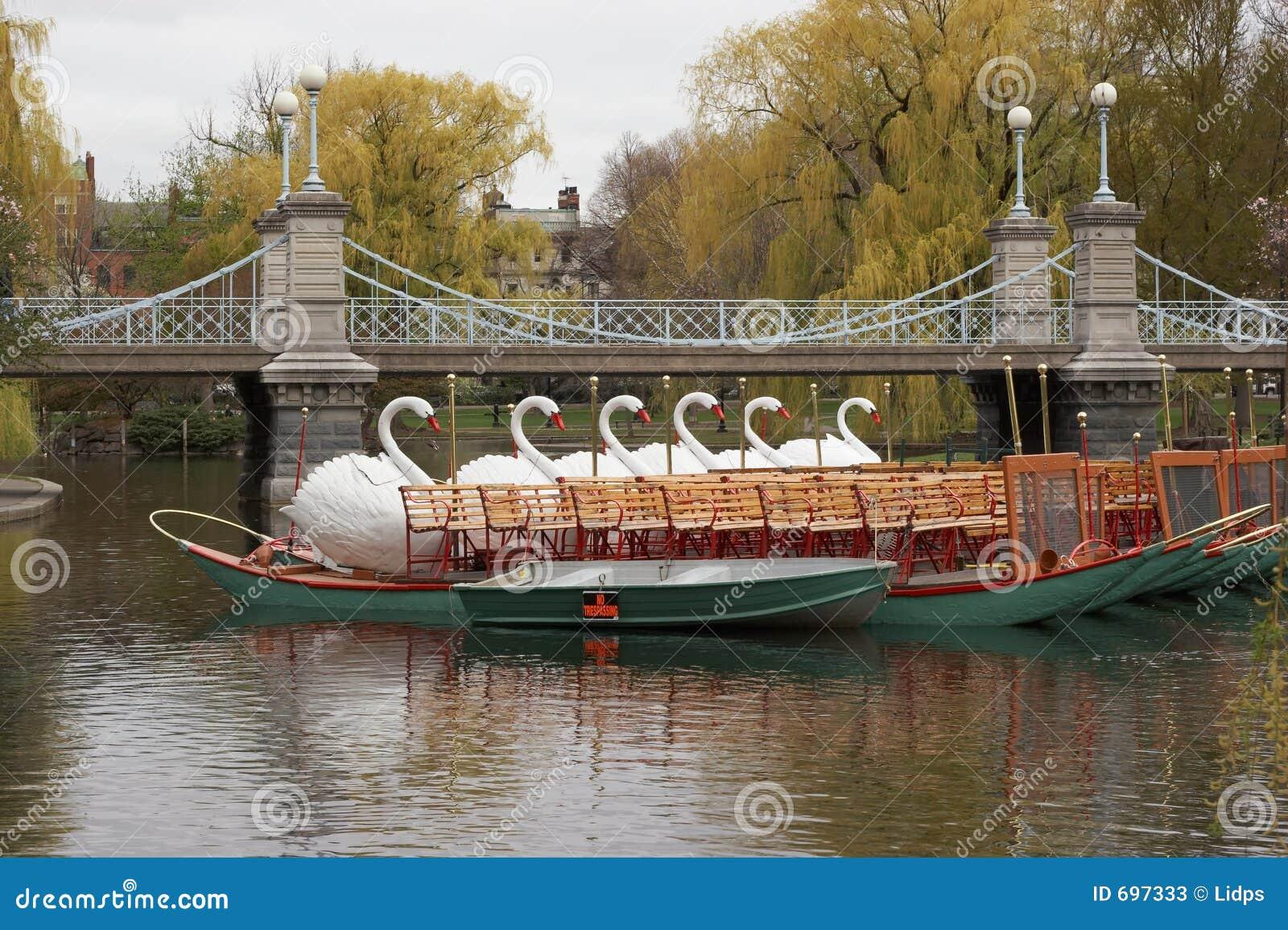 Swan Boats In Boston Common Stock Image Image 697333