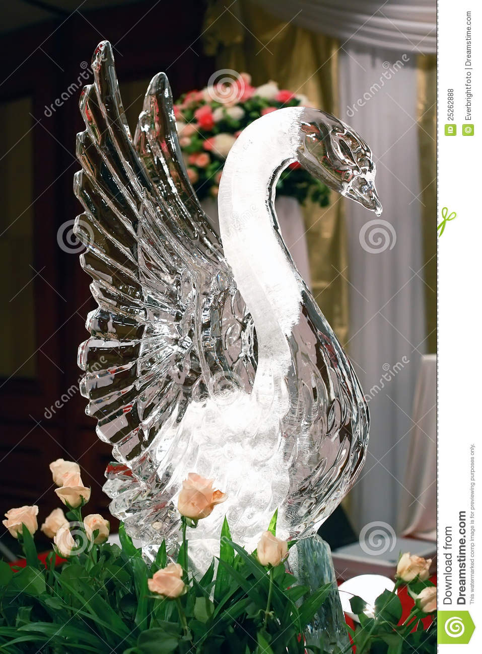 Swan Ice Sculpture Royalty Free Stock Photos Image 25262888