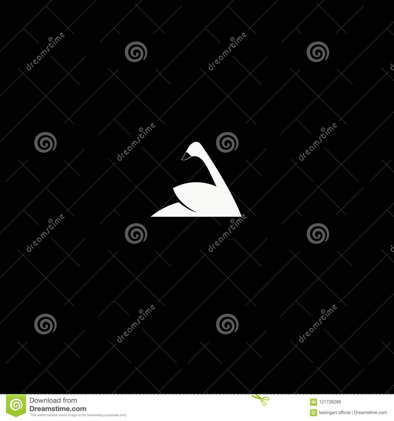 swan logo , icon vector ilustration .template. vector. editable.A