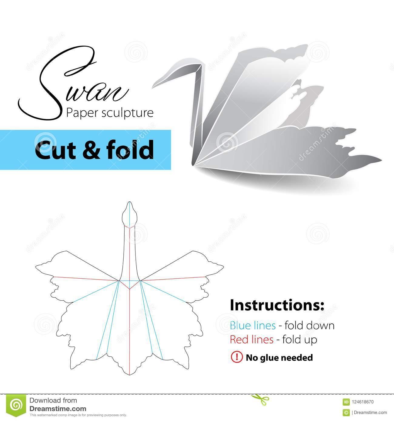 How To Make An Easy Origami Swan - Folding Instructions - Origami ... | 1390x1300