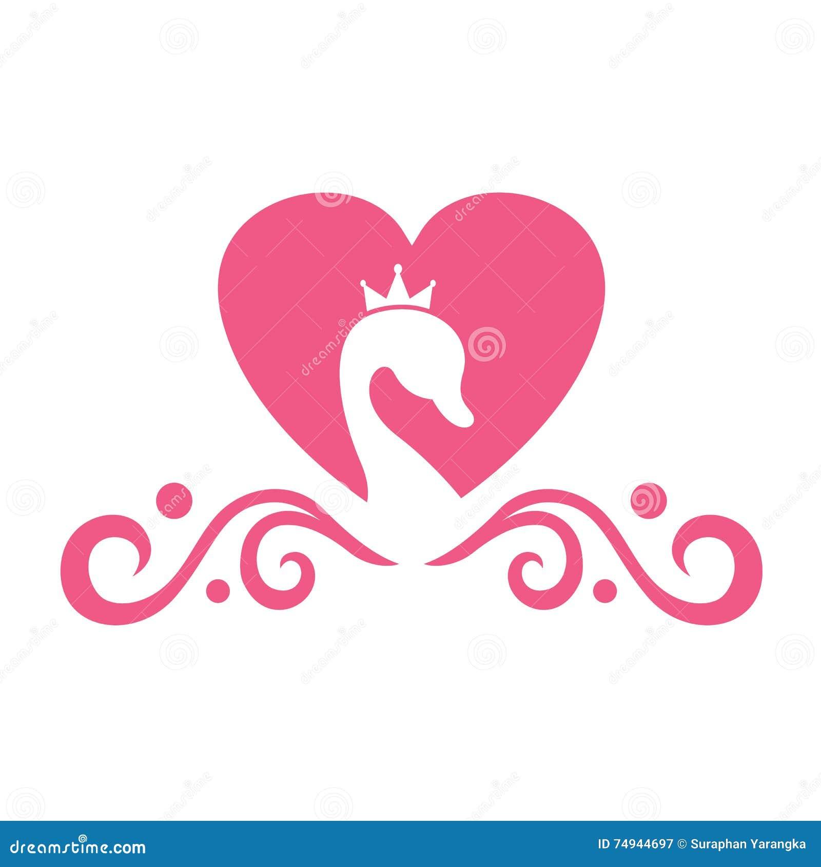 Swan Wedding Logo stock vector. Illustration of business - 74944697