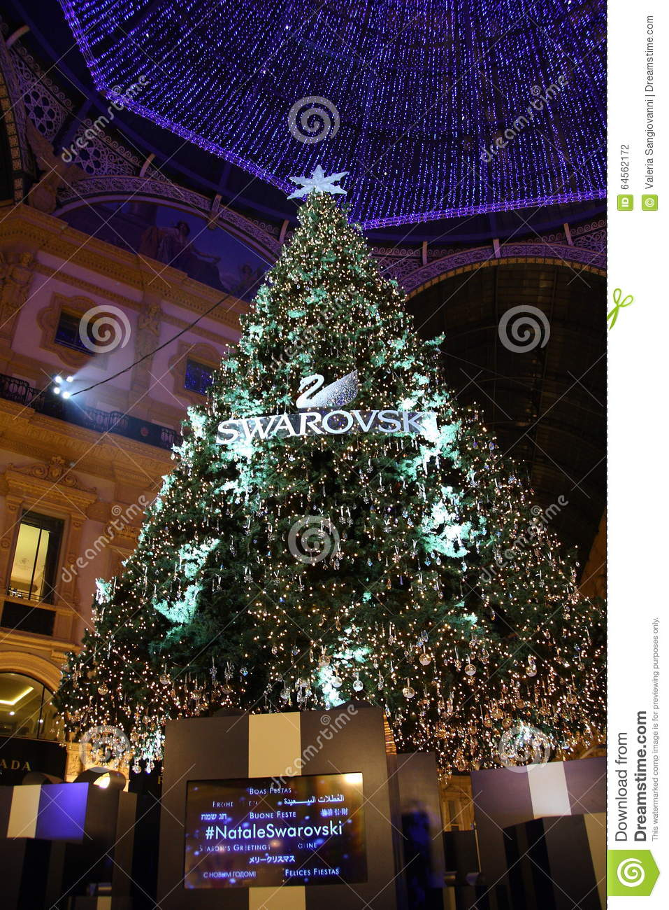 Swarovski Christmas Tree Editorial Photography - Image: 64562172