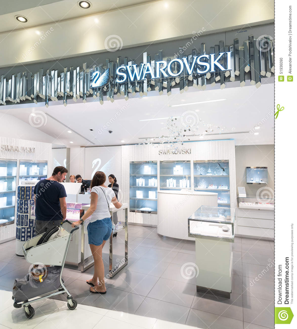Swarovski duty free shop in bangkok airport editorial - Boutique free mulhouse ...