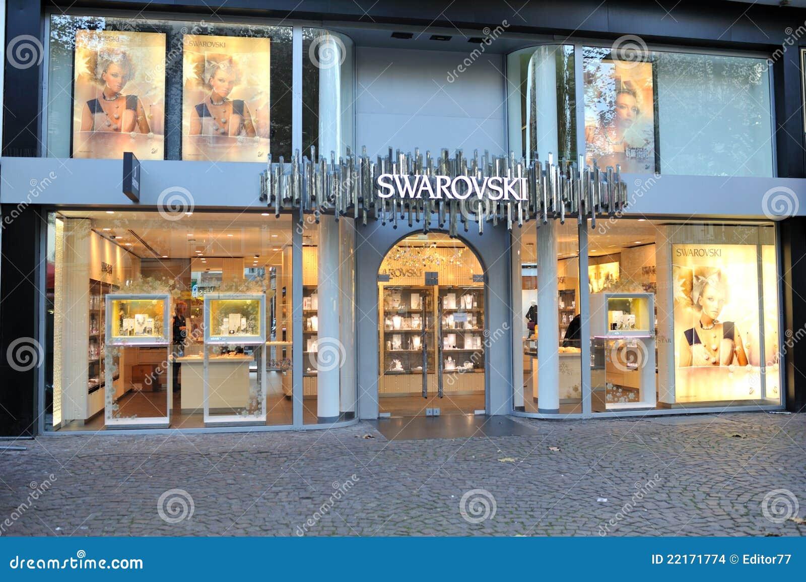 Swarovski Jewelry Store Front View Editorial Stock Image