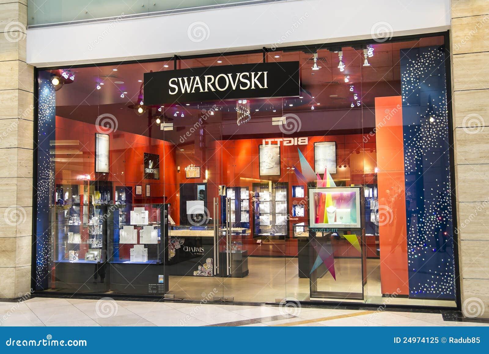 swarovski store editorial image image of cotroceni