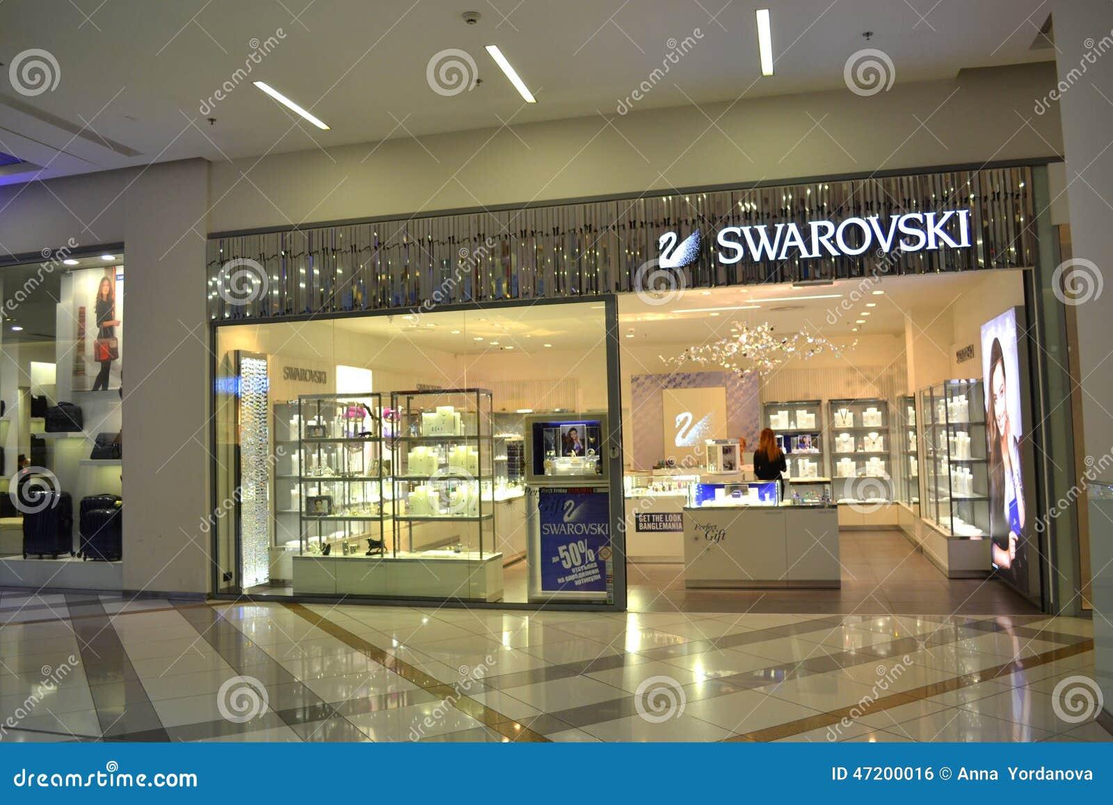 swarovski store editorial photo image of details
