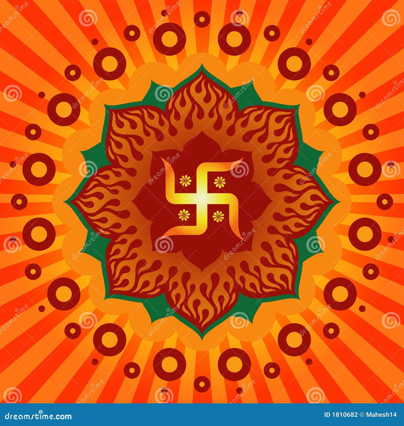 Swastik ! Stock Illustration. Image Of Decor, Fabric