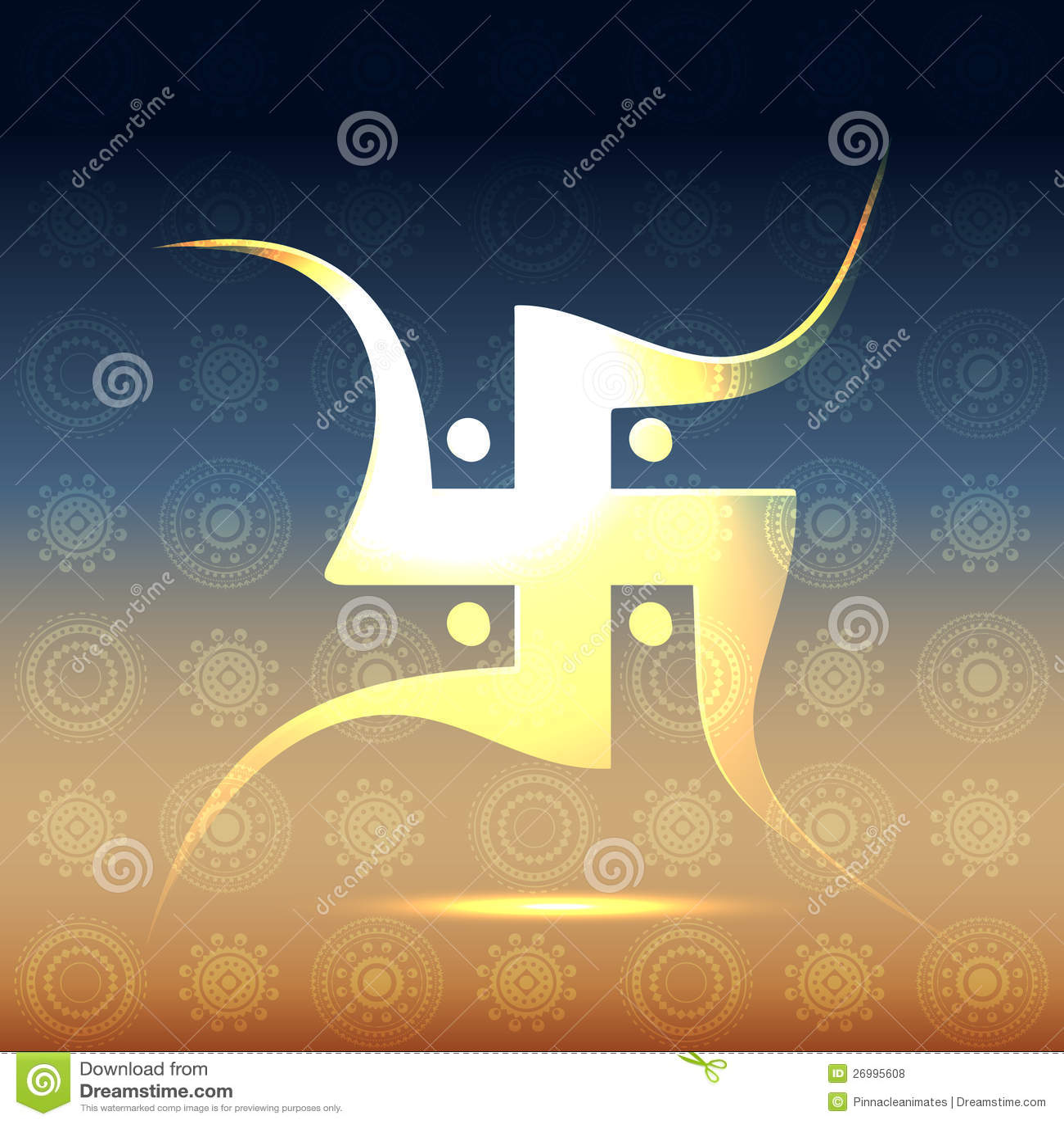 Swastik Symbol Stock Vector Illustration Of Design Shiny 26995608