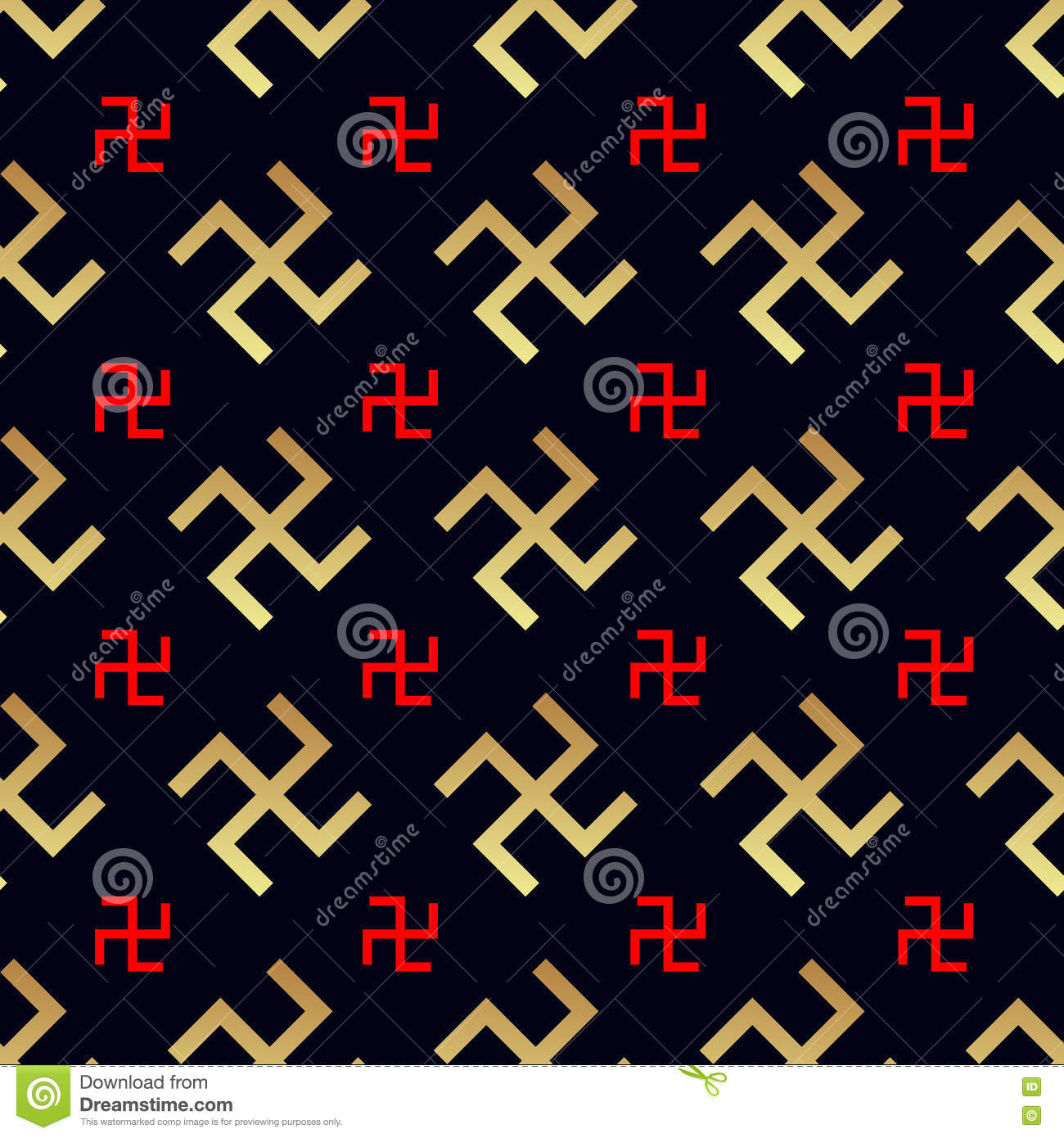 Jainism stock illustrations 329 jainism stock illustrations swastika seamless pattern rotating cross an ancient religious symbol of the sun good buycottarizona Images
