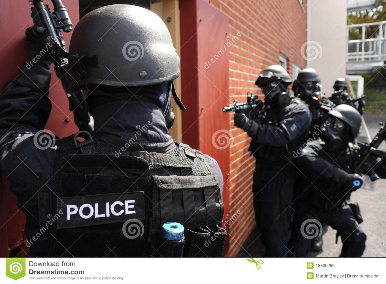 SWAT Police House Entry Royalty Free Stock Photo - Image ...