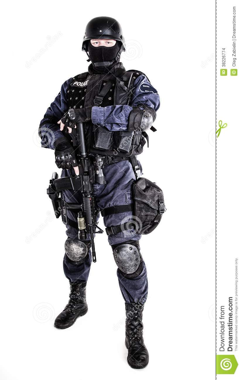 Swat Officer Stock Images Image 38226774