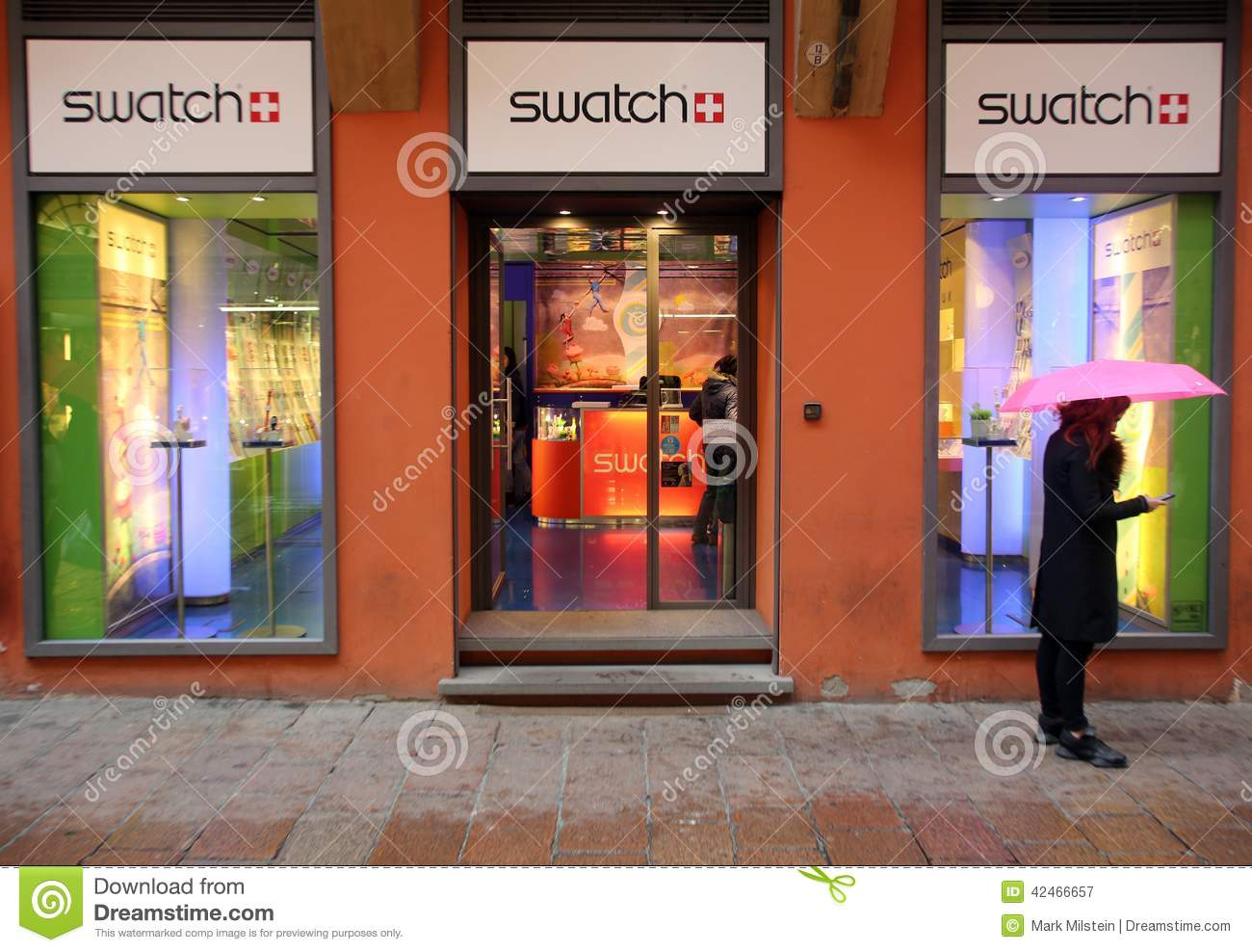 SWATCH WATCH RETAIL OUTLET Editorial Photography - Image: 42466657