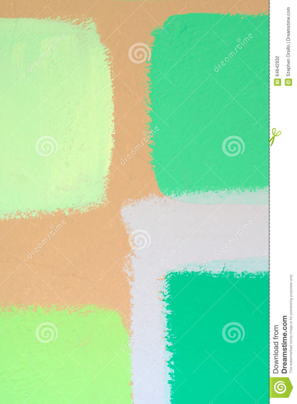 Swatches Of Green Paint On Wall Stock Photo Image 64642932