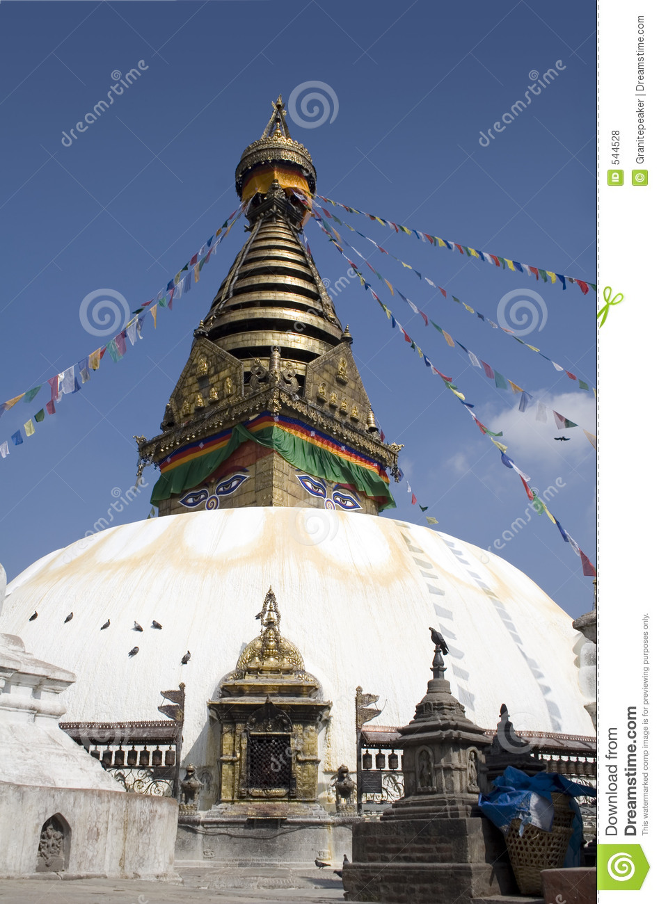 swayambhunath temple - nepal stock photo