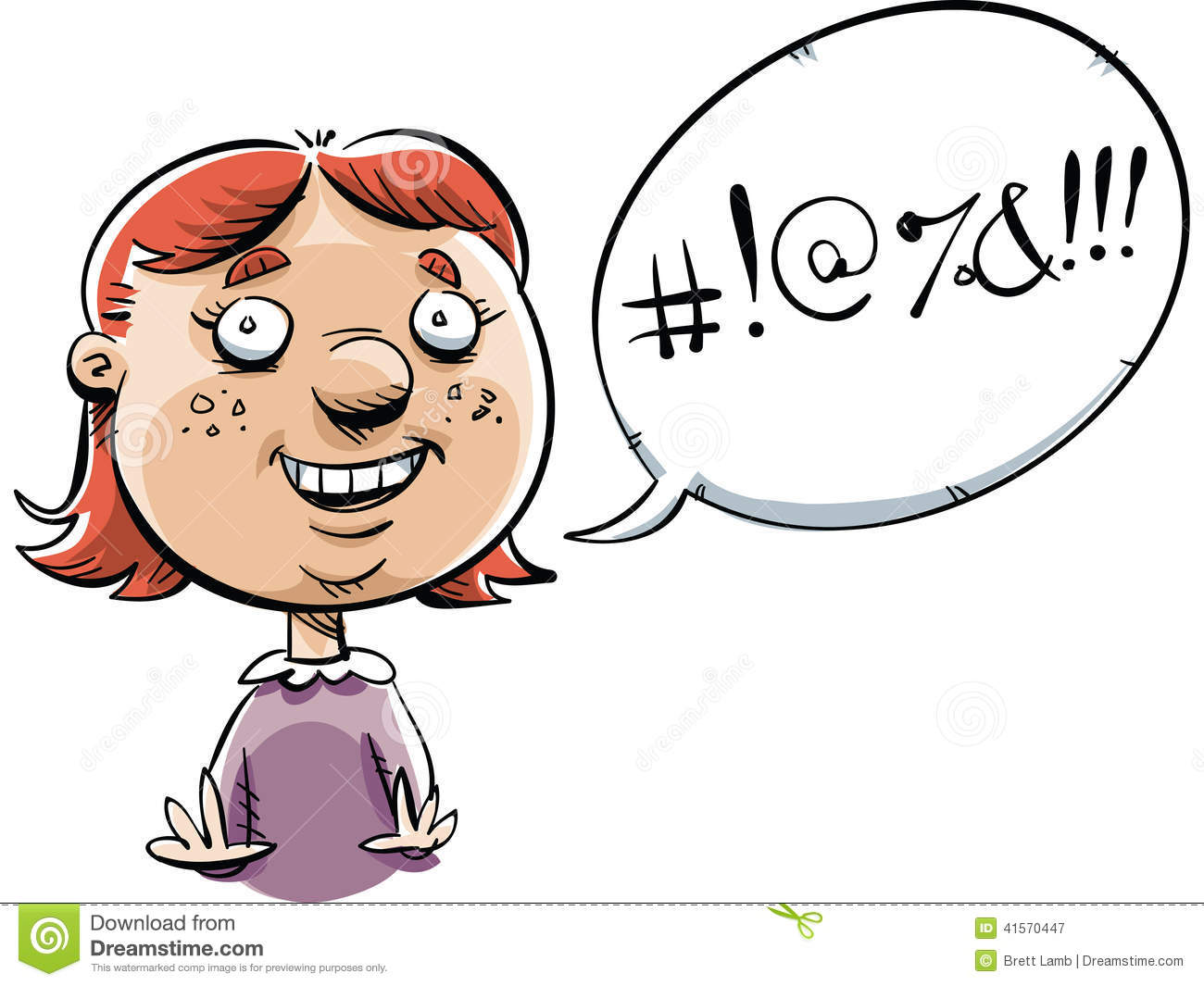 Swearing Girl Stock Illustration Illustration Of Symbol 41570447