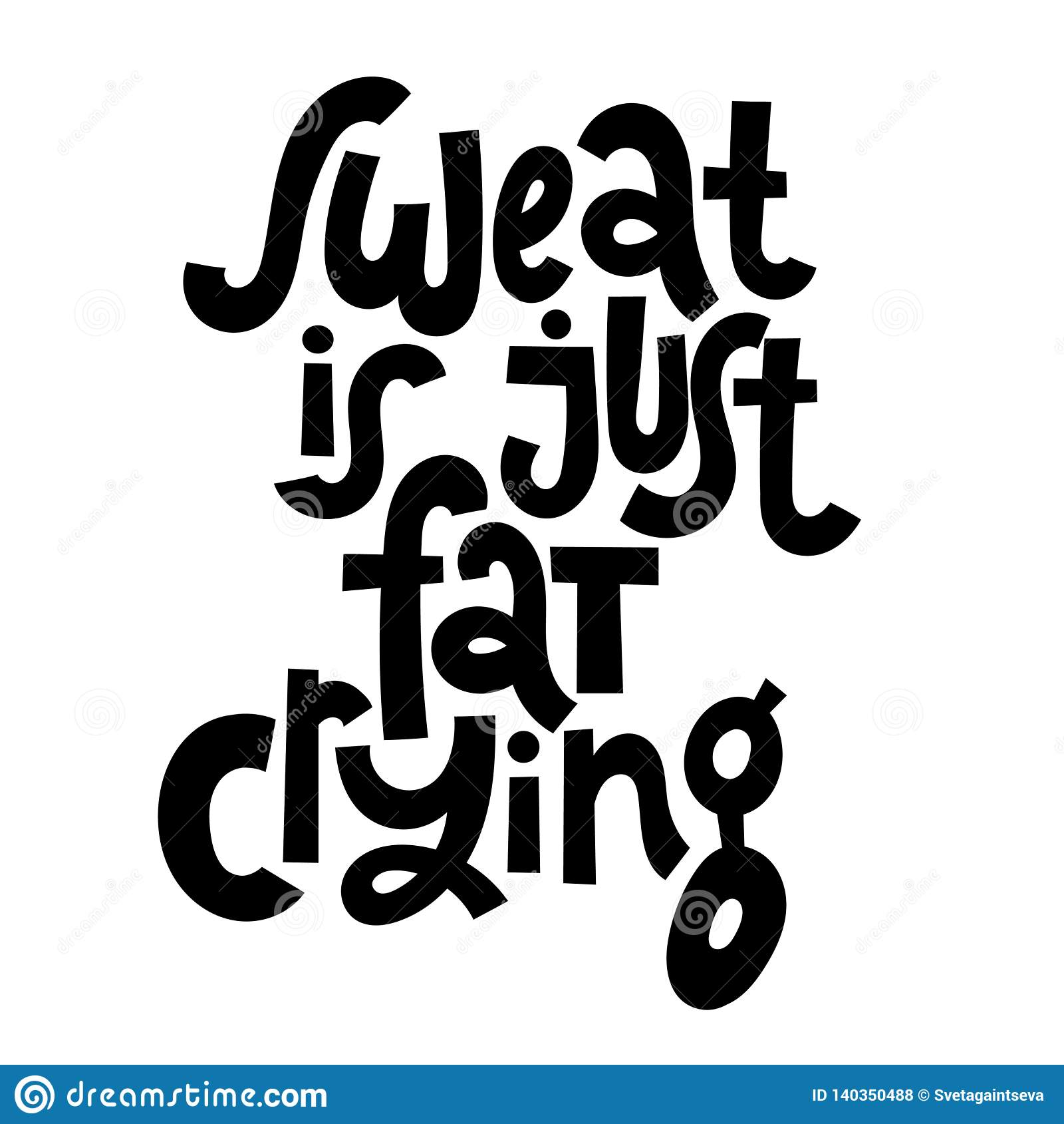 Fitness Motivational Quotes Stock Vector - Illustration of ...