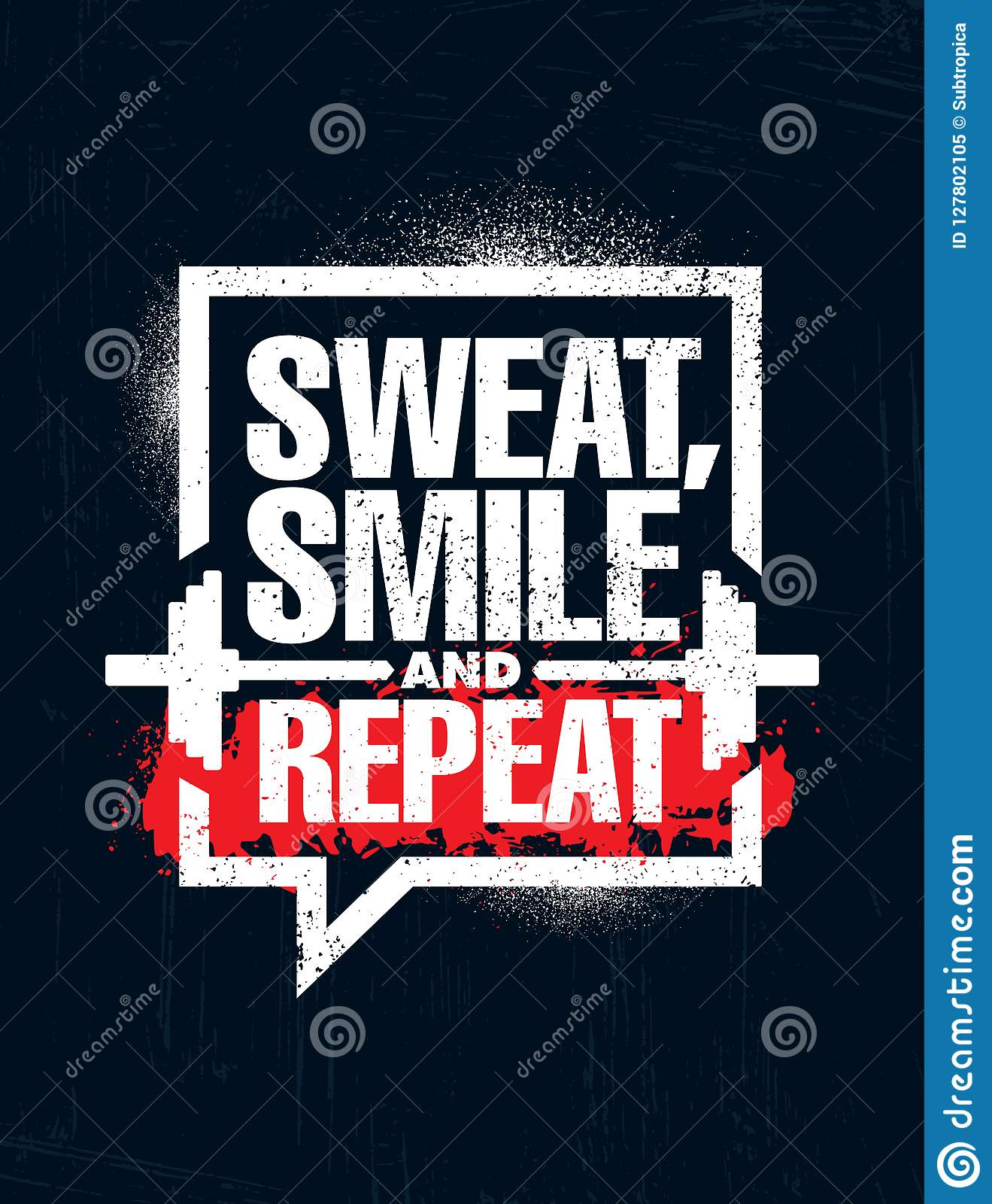 Sweat Smile And Repeat Inspiring Workout And Fitness Gym