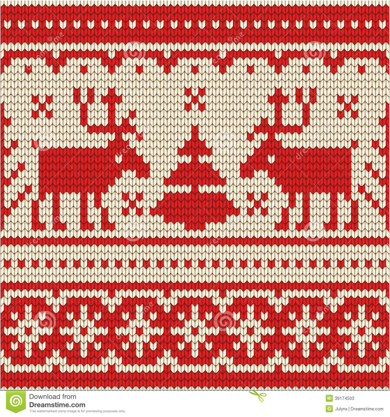 Christmas Knitting Background : Sweater with deer seamless pattern stock vector