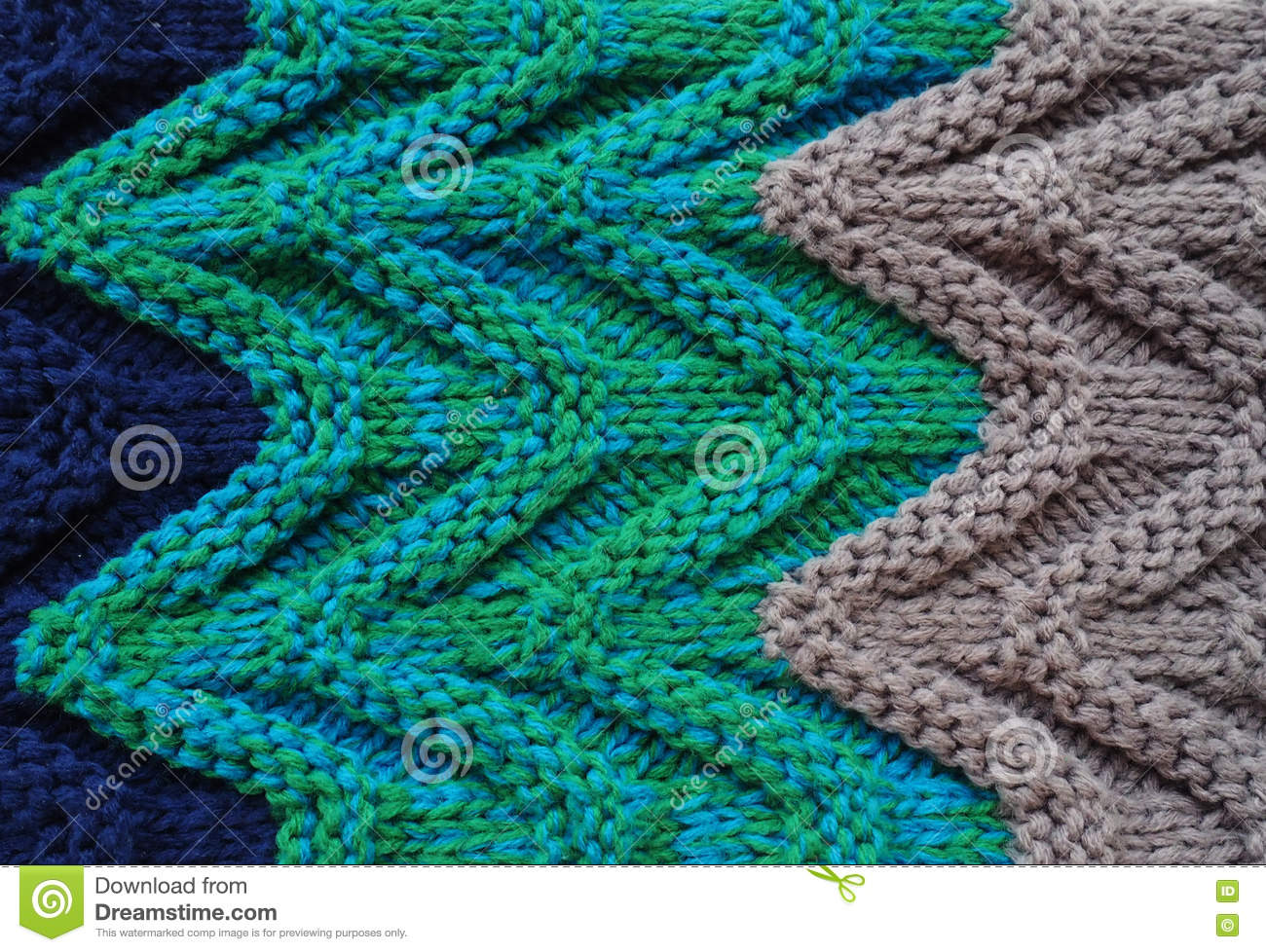 Sweater Or Scarf Texture Large Knitting. Knitted Jersey Background ...