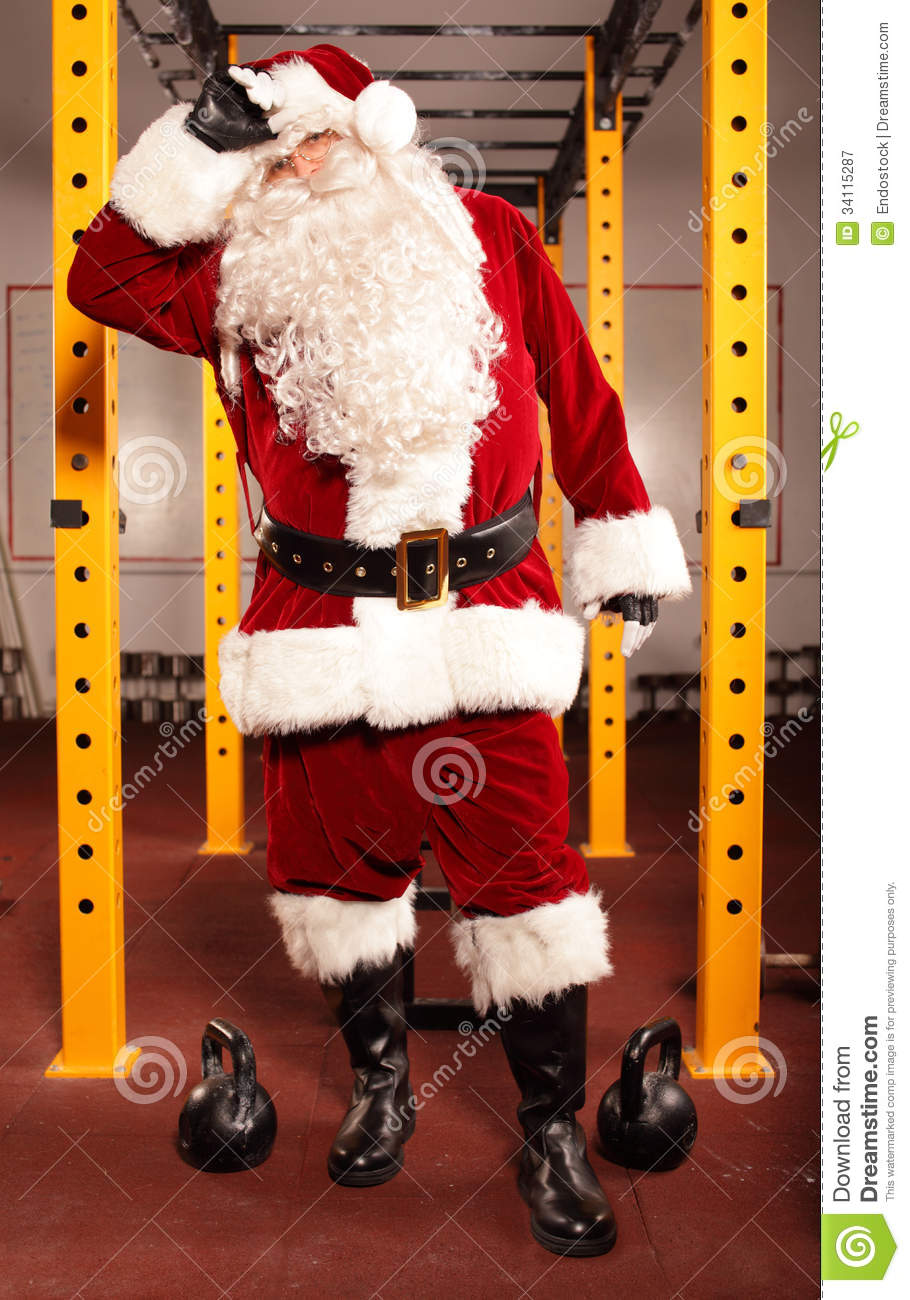 Sweating, Tired Santa Claus Royalty Free Stock Photography ...