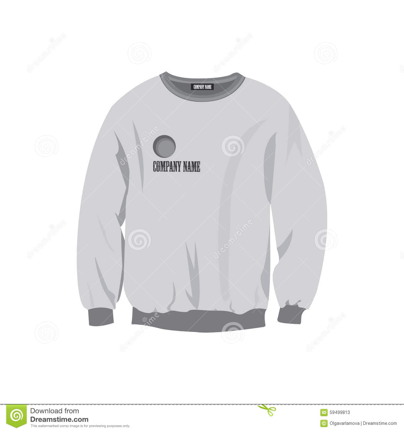 Sweatshirt Design Template Stock Vector - Image: 59499813