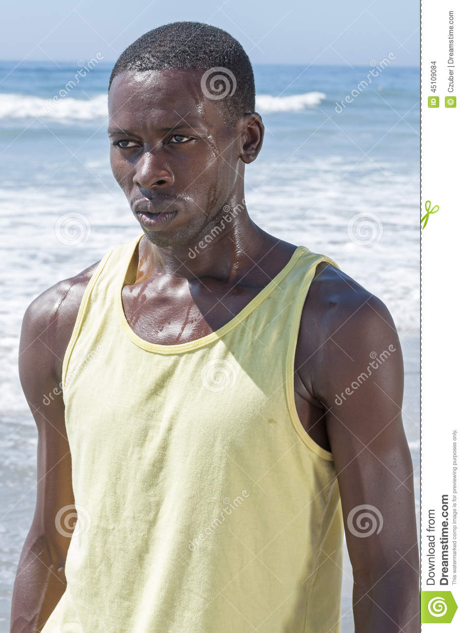 Sweaty and determined stock photo. Image of compete, beach ...