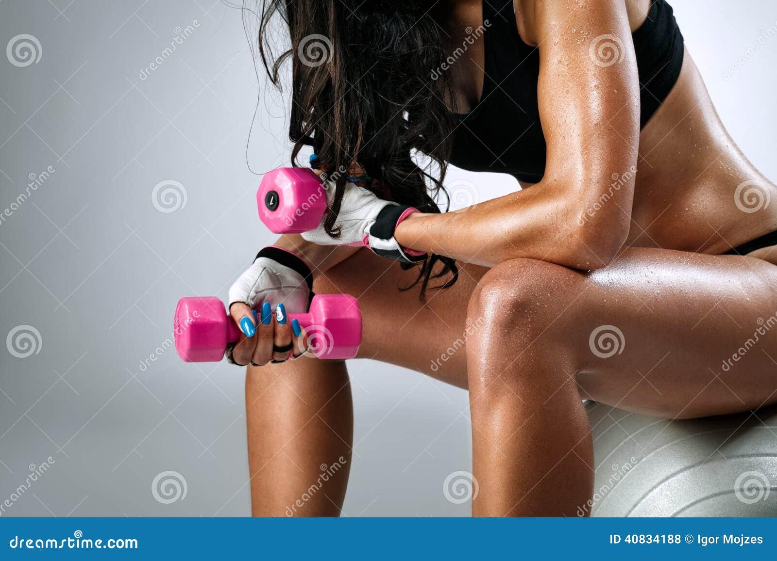 image Sweaty body after workout masturbation close up penis hairy latino don ston