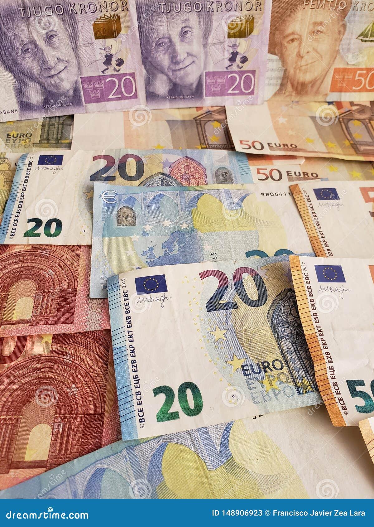 Femtio kronor in euro