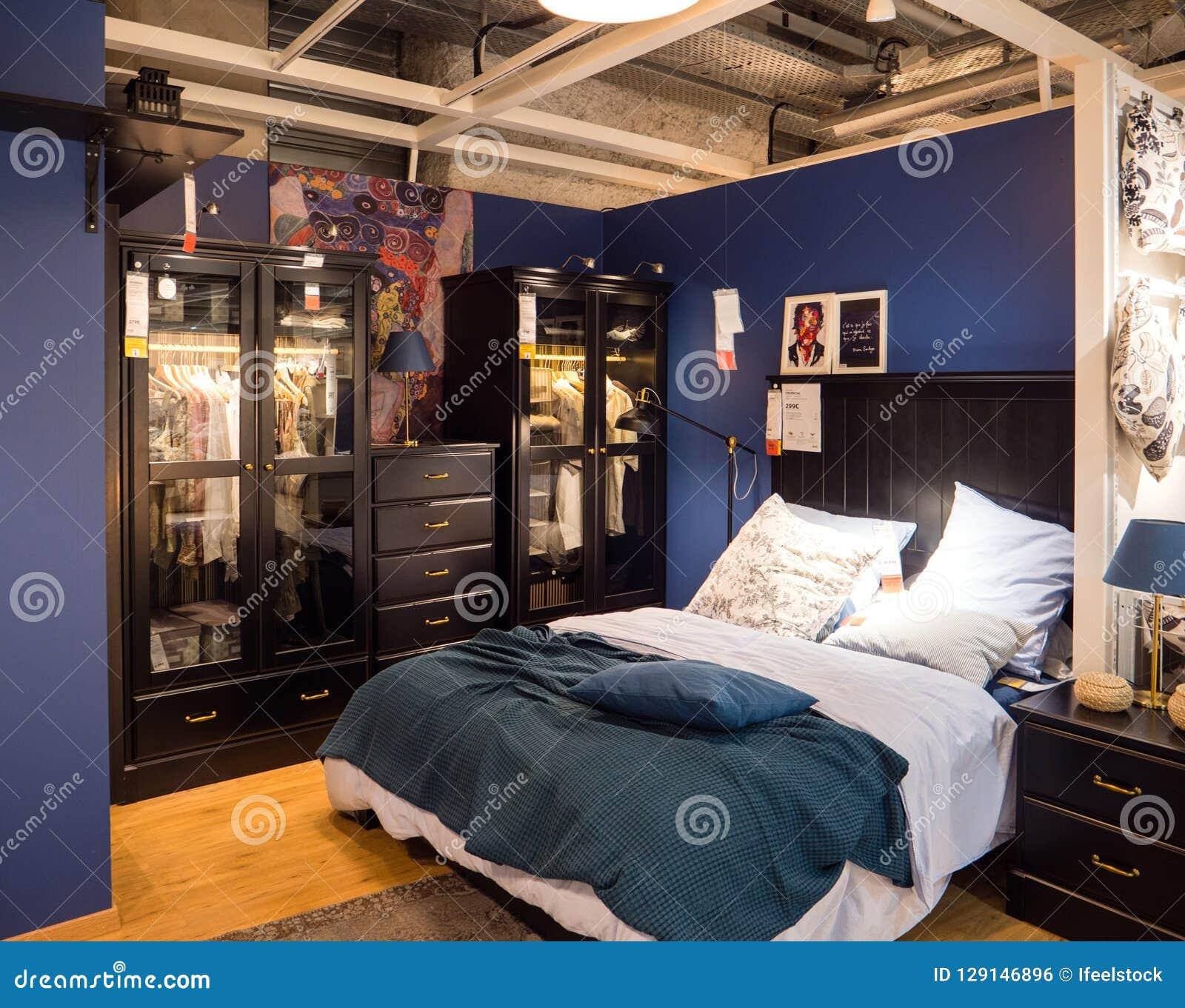 Swedish Bedroom Ikea Store Editorial Photo Image Of Hotel 129146896