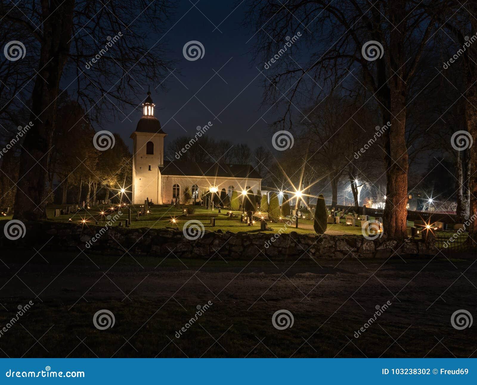 download swedish church at halloween 3 stock photo image of place dark 103238302