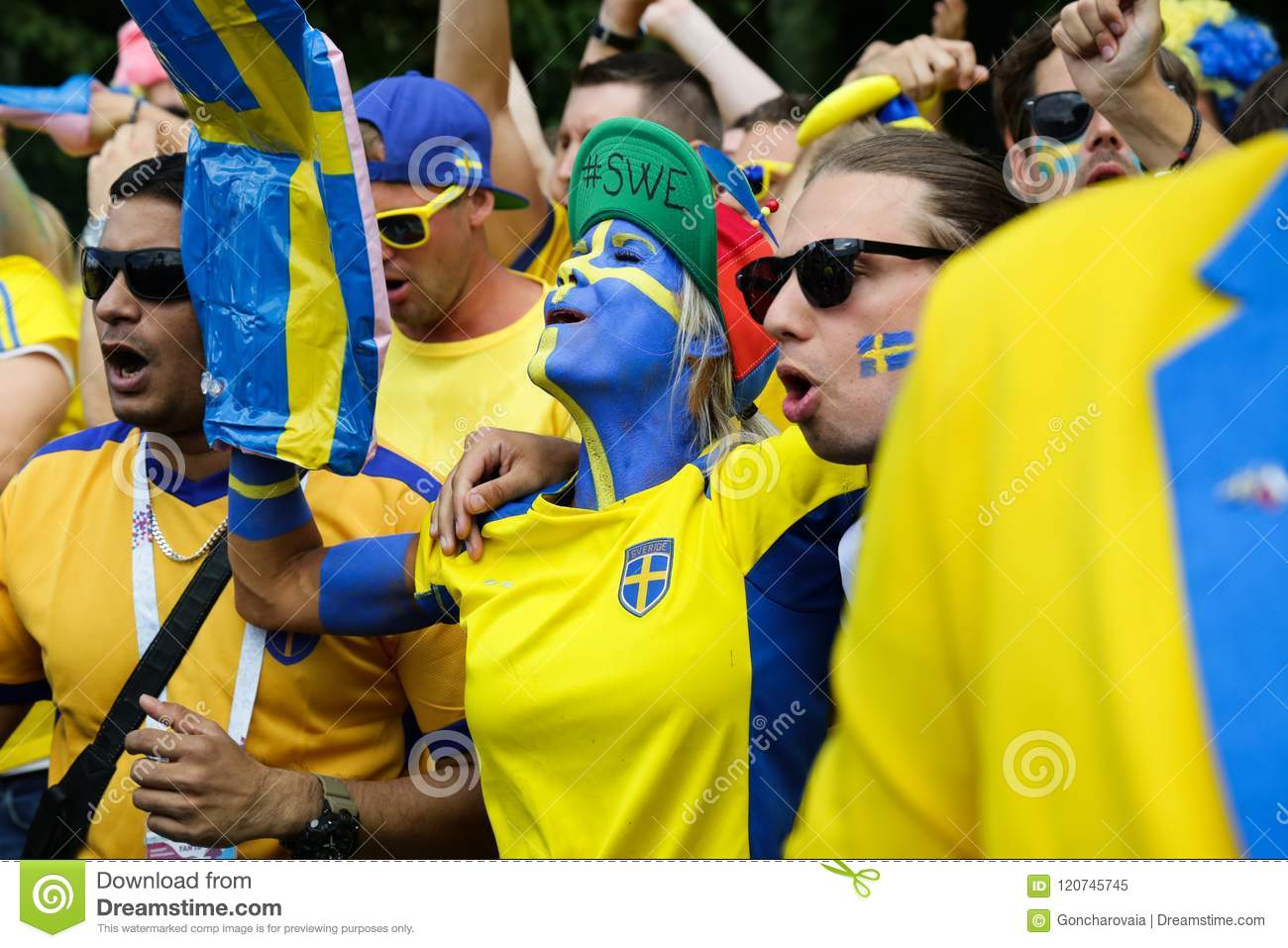 08732cf9ab7 Swedish Fans Parade. FIFA World Cup. Editorial Image - Image of 2018 ...