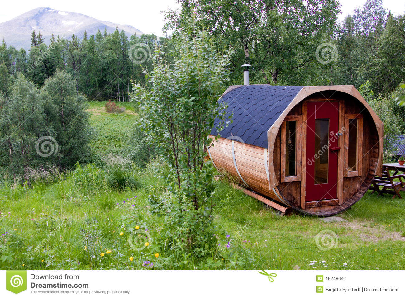 Swedish sauna at Snasan.