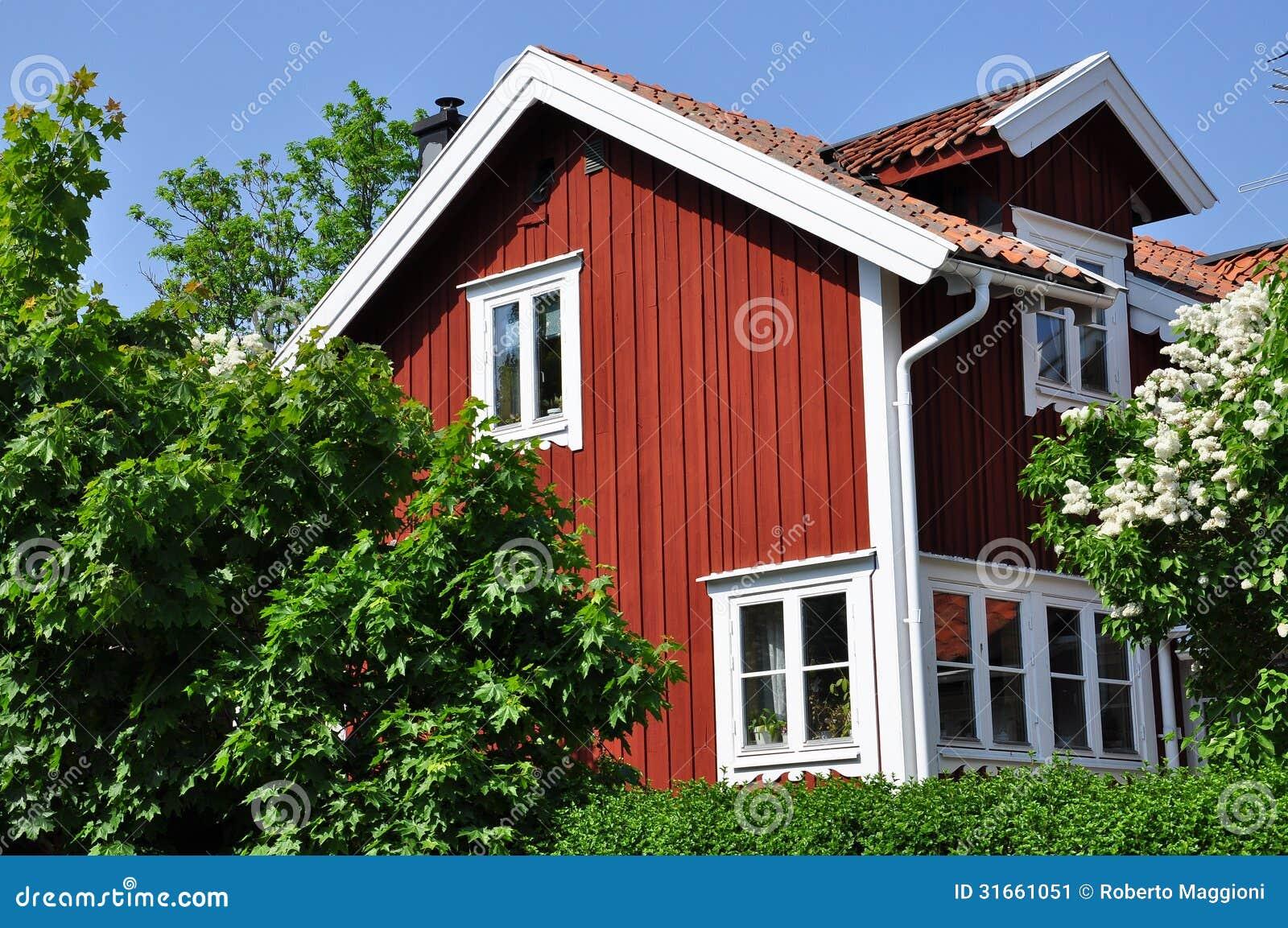 Swedish traditional house stock image image 31661051 for Traditional swedish house plans