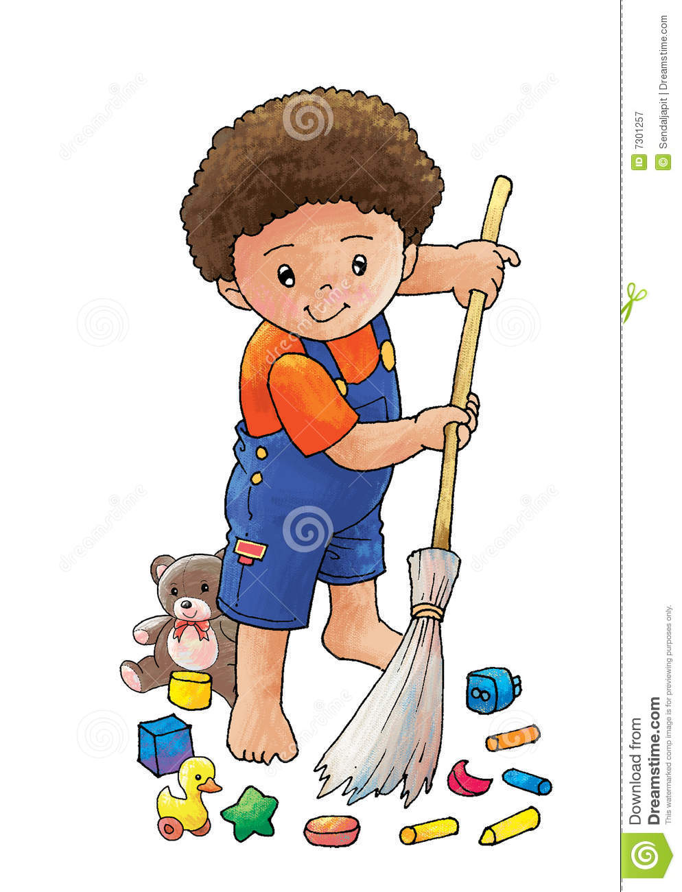 Sweep The Floor Stock Illustration Illustration Of