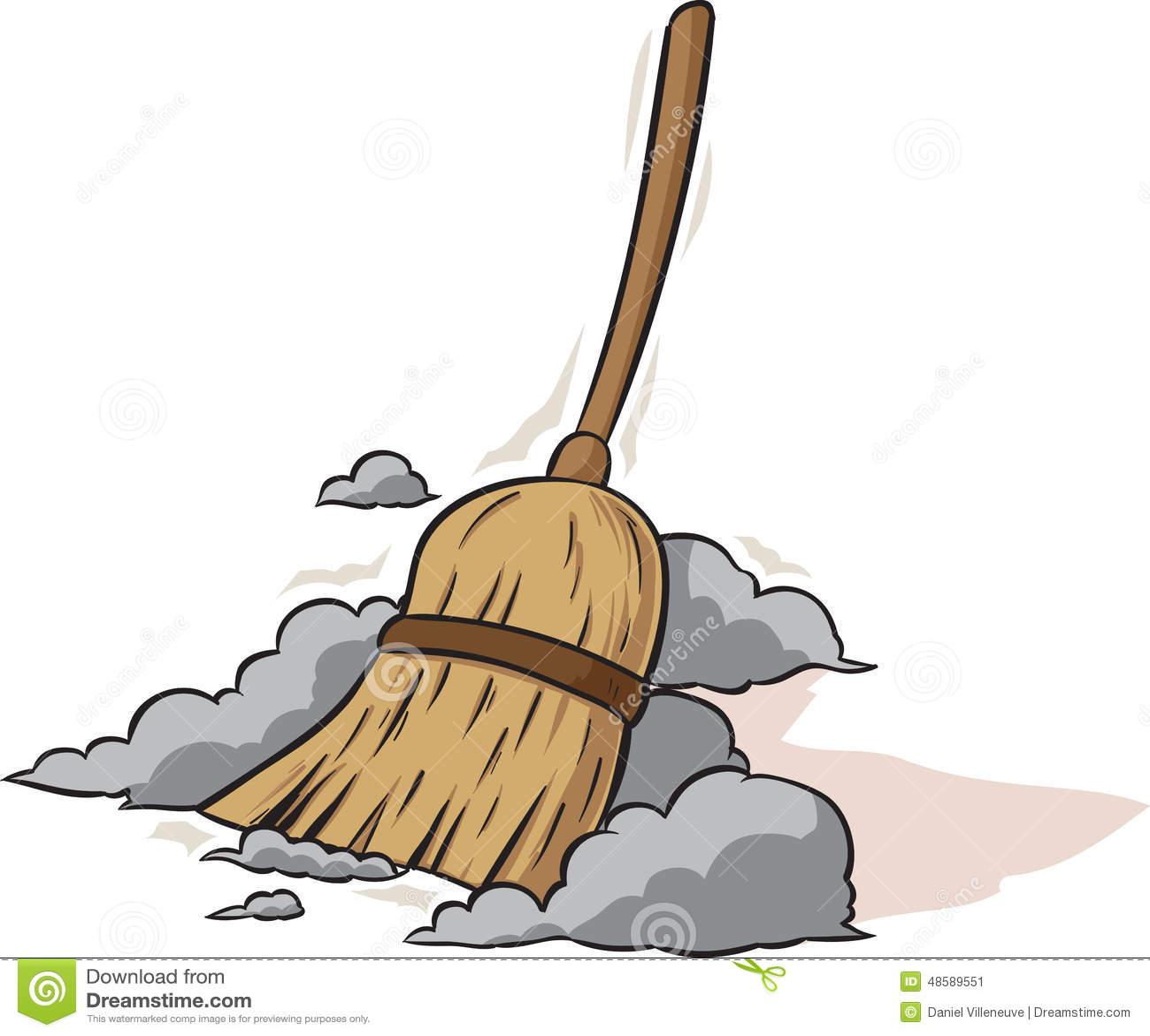 Sweeping Broom Stock Vector Image 48589551