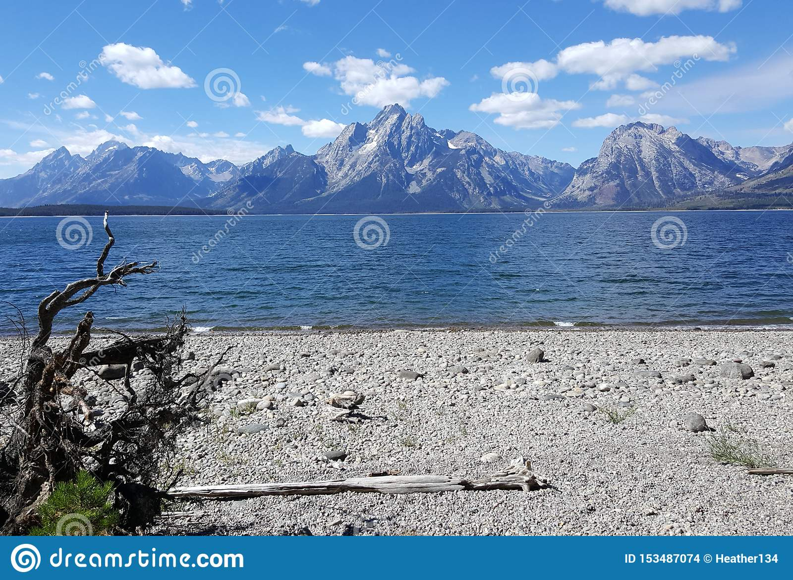 Secluded Beach with Majestic Views of the Tetons