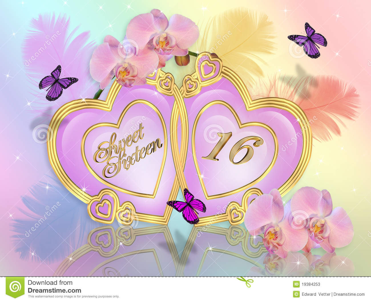 sweet sixteen stock photos, images,  pictures   images, Birthday card
