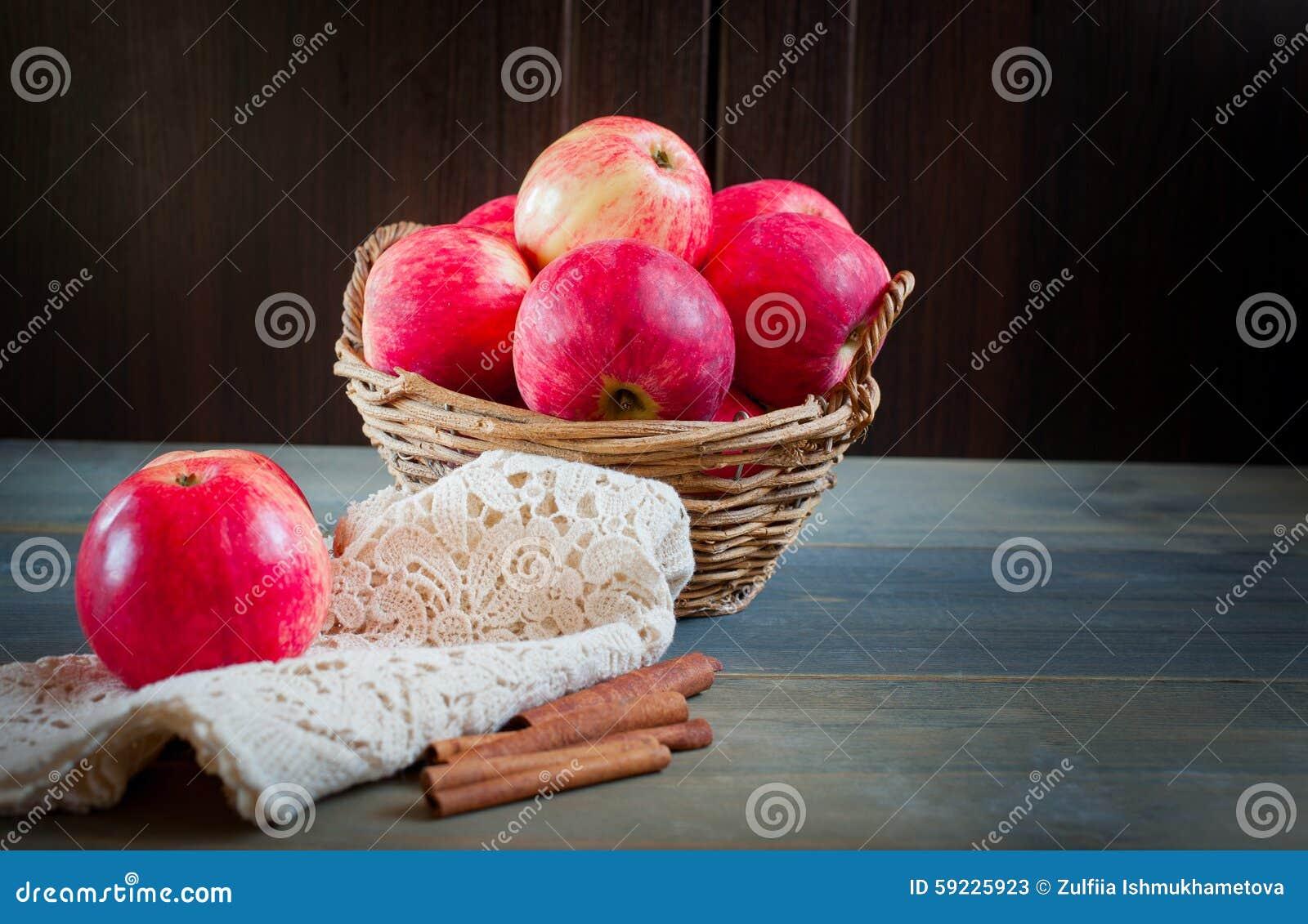 Sweet apples in the basket