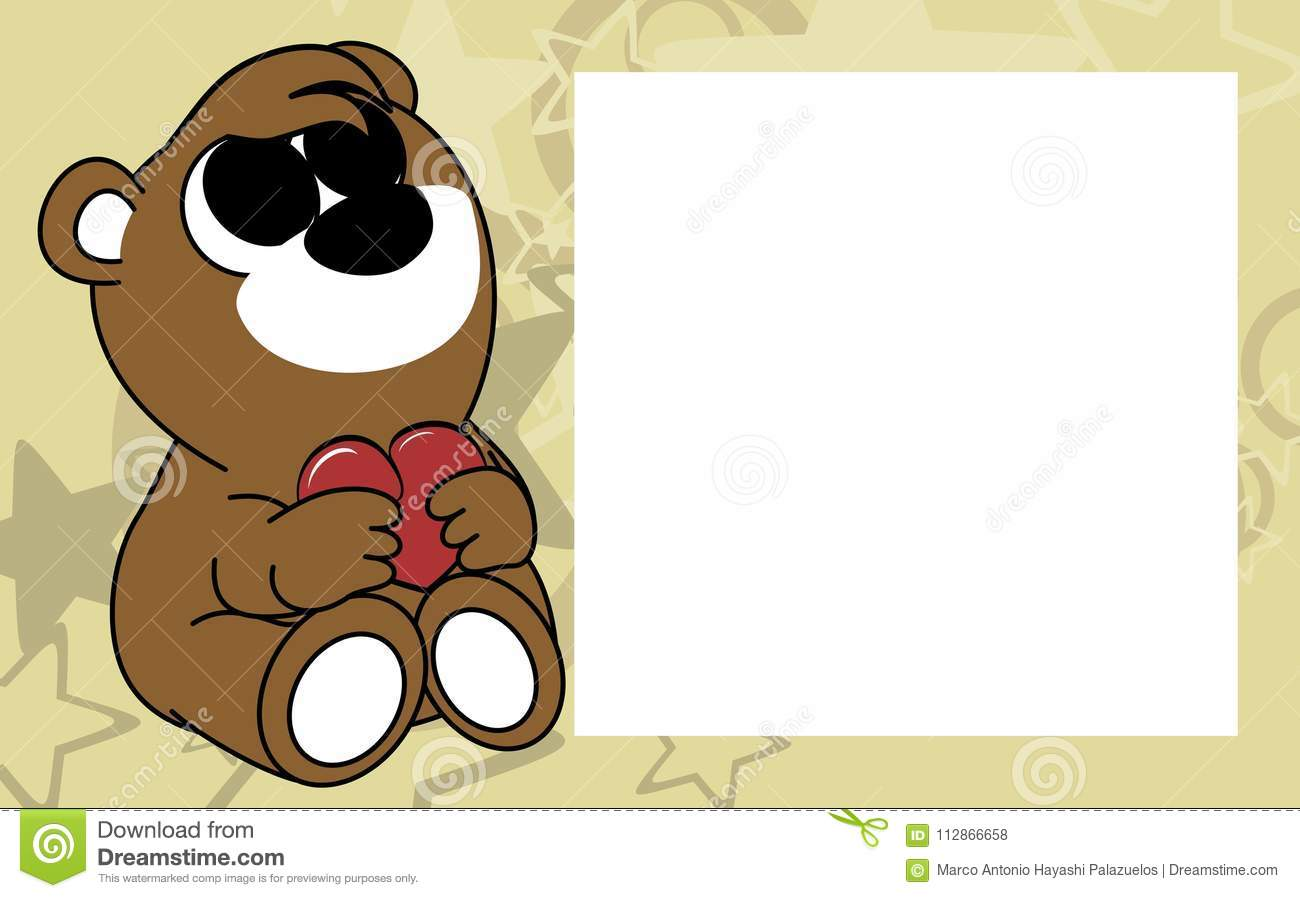 Sweet Little Baby Teddy Bear Valentine Picture Frame Background ...