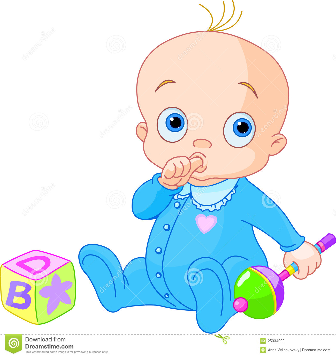Sweet baby boy stock vector. Illustration of child, clip ...